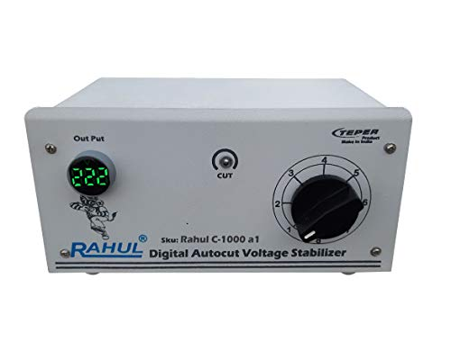 Rahul C 1000 a1 Kva/4 Ampere 90 260 Volt Manual 8 Booster Air Coolers Mainline Autocut Voltage Stabilizer