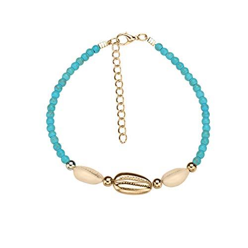 - LIM&Shop Bohemian Natural Shell Bead Handmade Bracelet Beach Choker Girls Ladies Hawaiian Puka Chip Necklace Adjustable