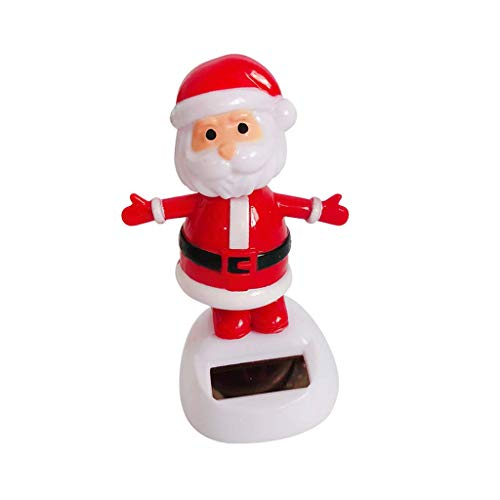 (KODORIA Solar Powered Dancing Toy Figurine Home Car Ornament Kids Toy Multi, Santa Claus)