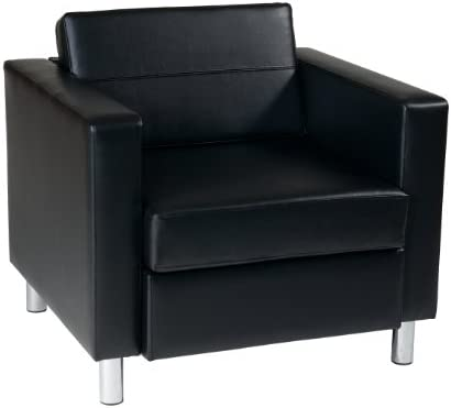 picture of OSP Home Furnishings Pacific Arm Chair, Black