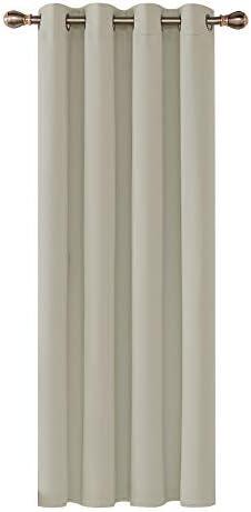 Deconovo Tenda Oscurante Termica Isolante con Occhielli 100% Poliestere 132×214 CM Beige Chiaro Un Pannello