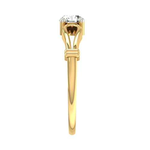Or jaune 18 K 0,3 CT TW Round-cut-diamond (IJ | SI) en diamant