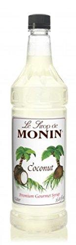 Monin Flavored Syrup, Coconut, 33.8-Ounce Plastic Bottle (1 liter)