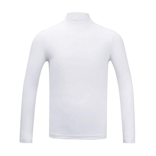 Kayiyasu インナーシャツ キッズ ゴルフウェア ジュニア ゴルフシャツ 男の子 UVカット 薄手 夏物用 薄物 長袖 下着 日焼け止め 021-xsty-yf137(XL(150cm) ホワイト)