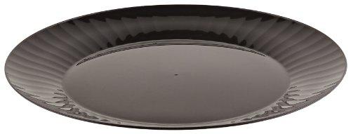 Prestige Rigid Plastic Round Plate, 7.5-Inch Diameter, Black (160-Count)