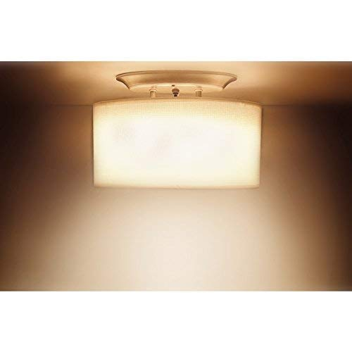 Dream Lighting 12Volt DC Fabric Light Fixture with White Elliptical Oval Ceiling Light Shade with On/Off Switch - LED Decor Lamp - 0.49A, 6W by Dream Lighting (Image #2)