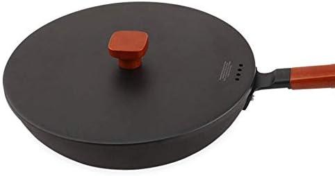 Casserole Tradition Pan Frying Cast Wok Iron Pot Raw Iron Pot Grand Wok Anti-adhésive sans revêtement /30cm/11.8inches