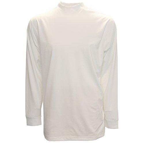 Tabasco Golf Jersey Tech Mock Turtle Neck Long-Sleeve Shirt, Large White - Golf Long Sleeve Mock Turtleneck
