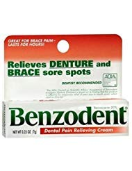 Benzodent Dental Pain Relieving Cream 0.25 OZ - Buy Packs and SAVE (Pack of 3)
