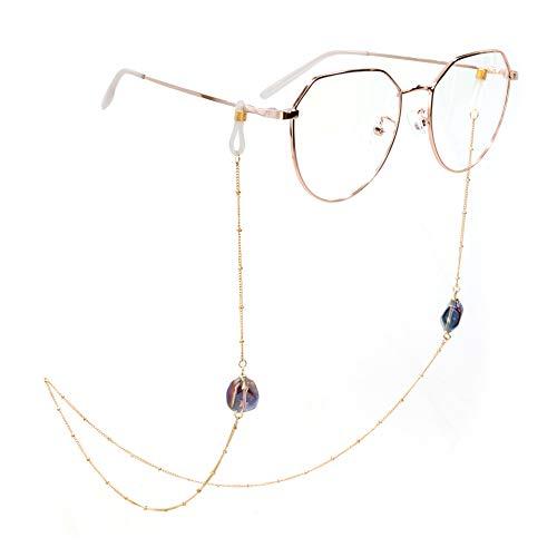 ADDJ Eyeglasses Chains Eyewear Strap Sunglasses Holder Reading Glasses Retainer Lanyard For Women (Aurora Borealis Golden)