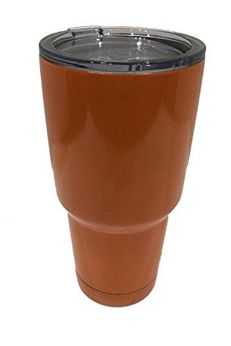 Frozen Trinity 30oz Stainless Steel Tumbler Double Wall Vacuum insulated Mug w/ 5 Straws & 2 Brush (Orange, 30oz)