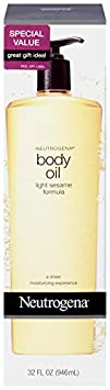 Neutrogena Body Oil, Light Sesame Formula, 32 Ounce