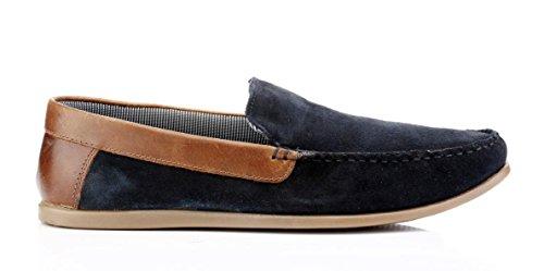 Hommes Décontractée Administratives Les Suède Frome De Sur Conduite Tracasseries Loafer Chaussures Glissement Marine AZnUwPAdq5