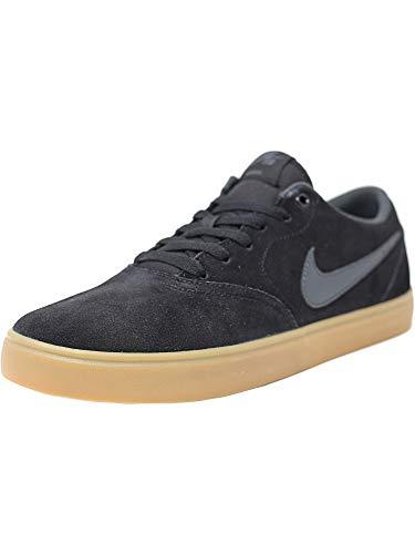 Nike Sb Check Solar Black/Anthracite Low Top Canvas Skateboarding Shoe - 10M 8.5M