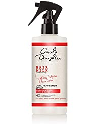 Curly Hair Products by Carol's Daughter, Hair Milk Curl Refresher Spray For Curls, Coils and Waves, with Agave, Sweet Almond and Wheat Protein, Hair Refresher Spray, 10 Fl Oz (Packaging May Vary)