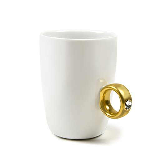 Fred 2-CARAT CUP Solitaire Ring Mug, - Solitaire Gift Box