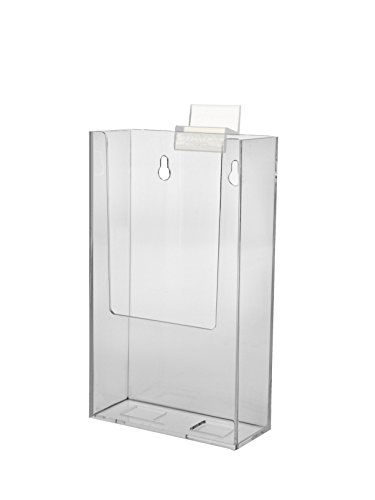 Marketing Holders Brochure Holder Slatwall Clear Acrylic Display for Trifold Literature Lots of 15 by Marketing Holders
