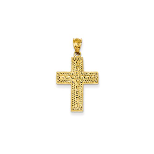 Roy Rose Jewelry 14K Yellow Gold Greek Filigree Cross Pendant - 14k Gold Filigree Cross Pendant
