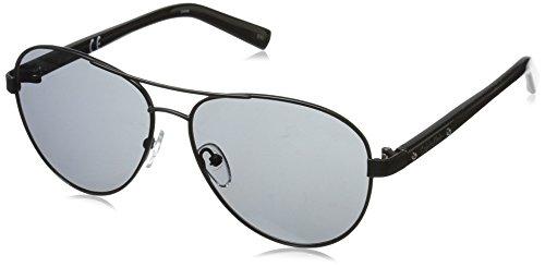 Calvin Klein Men's R159S Aviator Sunglasses, Black, 58 ()