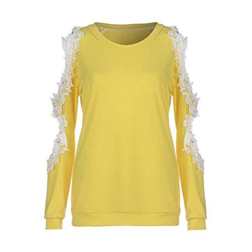 Camicia Dimensione Donna Qiusa Giallo Da Nero colore Casual 20 UxqqwYdpz