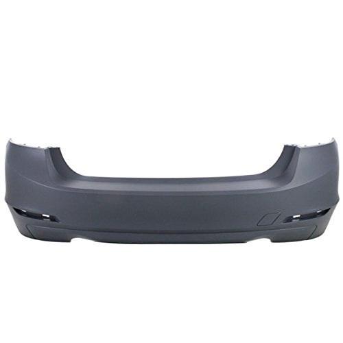 Perfect Fit Group REPB760177P - 3-Series Rear Bumper Cover, Primed, W/O Msportline, Std Type, W/O Pdc And Molding Holes, 335I/ Hybrid Models, Sdn (Rear Bumper Std)