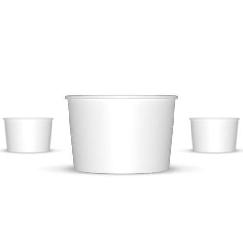 4 oz Paper Hot/Cold Ice Cream Cups - 100ct (White)