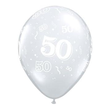 Age 50 50th Birthday Diamond Clear 11quot Latex Balloons