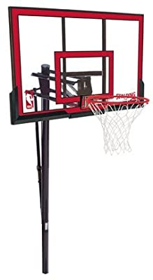 Spalding 88354PR NBA 48in Polycarbonate Backboard In-Ground Basketball System