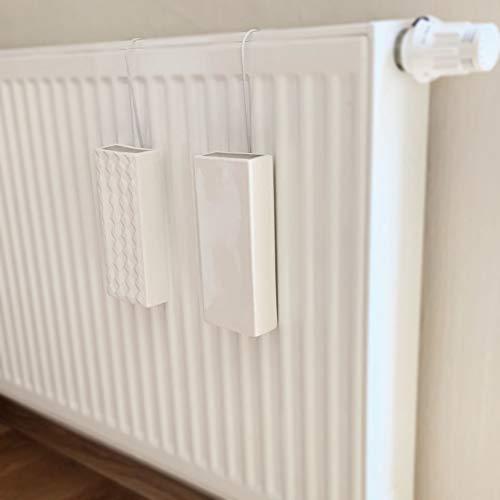 Humidificador de 4 piezas de cer/ámica RELIEF plano para fijaci/ón al radiador de calefacci/ón difusor de agua a1669