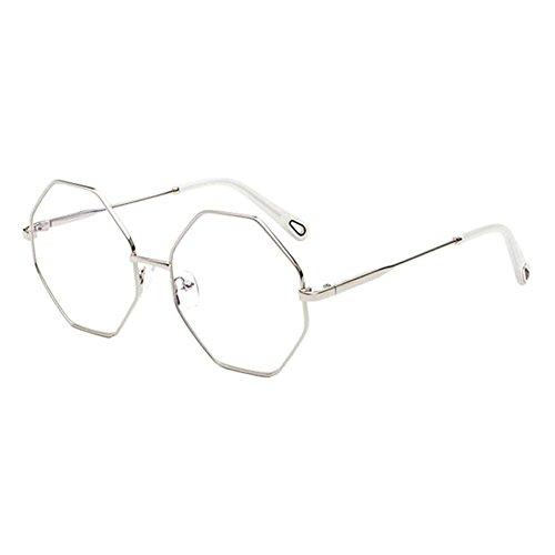 Meijunter Unisex Vintage Geometry Metal Polarized UV400 Protection Sunglasses (Driving Brillen)