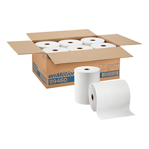 enMotion 10 Paper Towel Roll by GP PRO (Georgia-Pacific), White, 89460, 800 Feet Per Roll, 6 Rolls Per Case