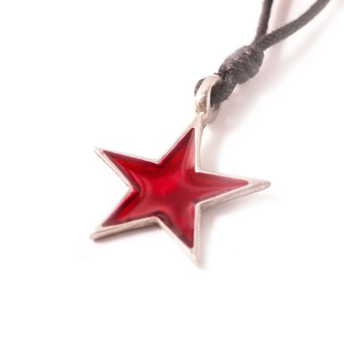 Pewter Star Charm - Vietsbay Communist Red star Silver Pewter Charm Necklace Pendant Jewelry
