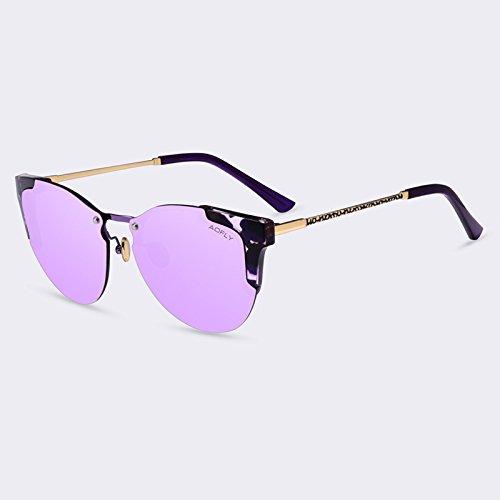 de Gato degradado de Gafas de lunettes sol femme Ojo de gafas de lujo sol espejo Gafas TIANLIANG04 C05gris de C04Purple de mujeres gafas Moda soleil zwqgAp