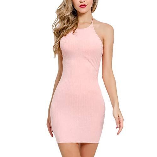 Caopixx Women's 2019 Casual Summer Sexy V-Neck Stretchy Slim Bodycon T Shirt Short Mini Dress