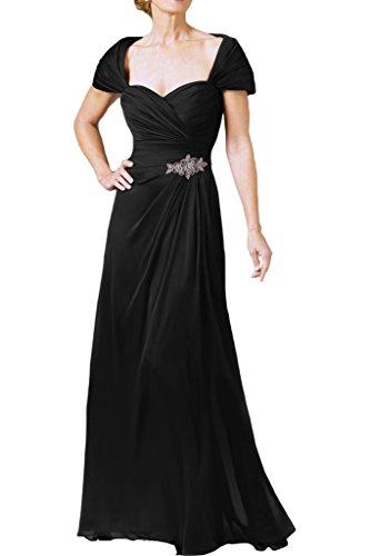 Damen Lang Herzform Stilvoll Abendkleid Ballkleid Schwarz Promkleid A Linie Ivydressing Festkleid wT4qYw