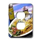 3dRose Lsp_89121_6 Shrimp Enchilada, Mexican Cuisine Destin, Florida - Us10 Fvi0006 - Franklin Viola 2 Plug Outlet Cover