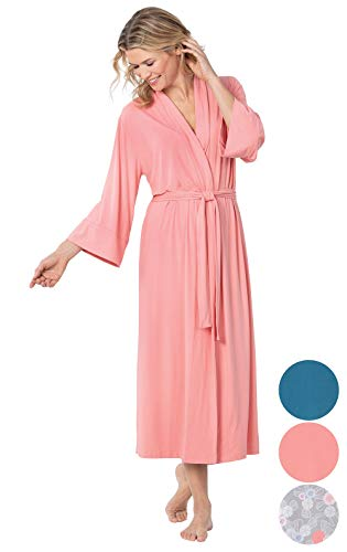 - Addison Meadow Womens Robe Wrap - Womens Robes Long Soft, Coral, Small / 4-6