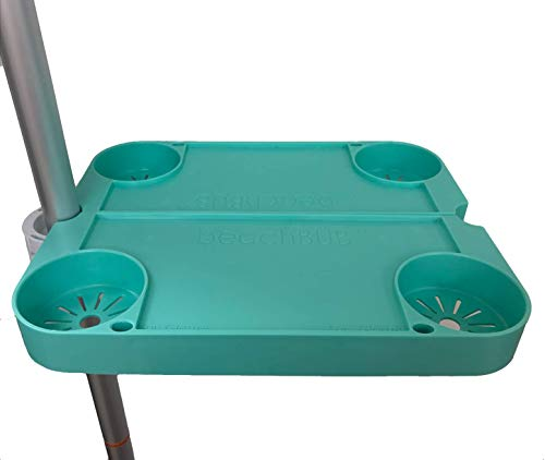 BEACHBUB Clip-On Clip-Off Beach Umbrella Universal Tray Table System with 4 - Beach Systems