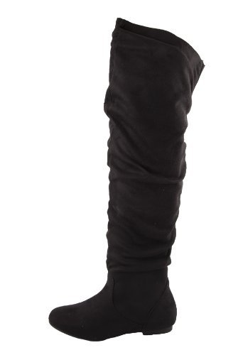 Nature Breeze Vickie Hi Knee high Boots,Vickie-Hi6.0 Black Suede 7.5