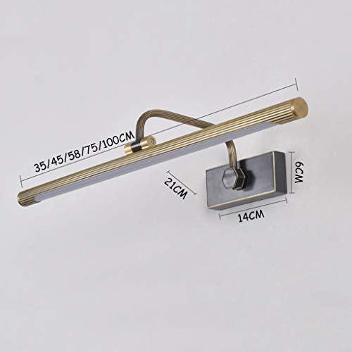 Luces de espejo de baño Hogar a prueba de agua anti-vaho del espejo del LED frontal luz del baño lámpara Lavabo Dormitorio Armario Tocador de maquillaje Lámparas de pared [Clase energética A +]
