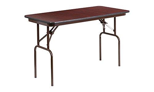 Mahogany Buffet Table - Offex 24'' x 48'' Rectangular High Pressure Mahogany Laminate Folding Banquet Table
