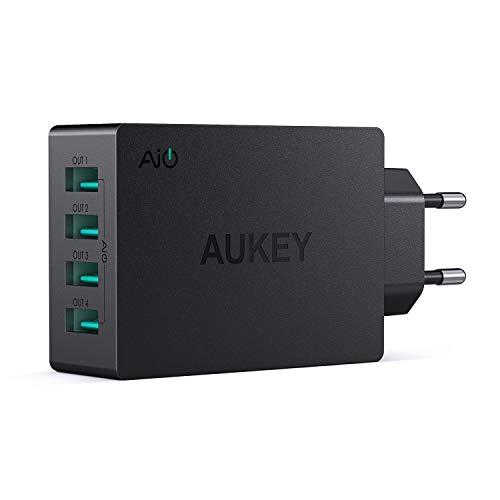 AUKEY USB Ladegerät 4 USB Ports 40W USB Netzteil mit AiPower Technologie für...
