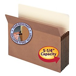 Hanging Accordion Folders Letter - Smead File Pocket, Straight-Cut Tab, 5-1/4