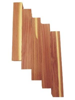 Cedar (Aromatic) Pen Blanks 5Pcs