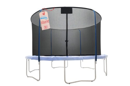 (Trampoline Replacement Net, Fits For 14' Round Frames, Using 4 Curved Poles With Top Ring Enclosure System -NET ONLY)