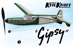 Gipsy: KeilKraft Rubber Powered Balsa Wood Model Plane Kit Wingspan 1016mm