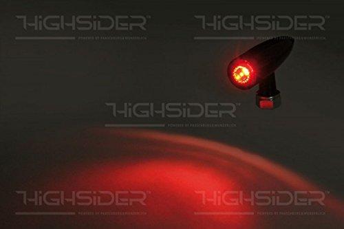 EG Klarglas LED-R/ücklicht MONO BULLET schwarz