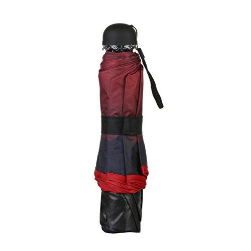 Sun Care Basics Tote (Anti-UV Sun/Rain Umbrella Ikevan Travel Parasol Folding Rain Windproof Umbrella Double Folding Anti-UV Sun/Rain Umbrella (Red))
