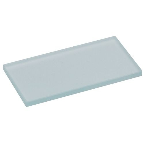 Miltex 558-25875 Mixing Slab, Frosted Glass, 4'' Length, 2'' Width, 0.25'' Height