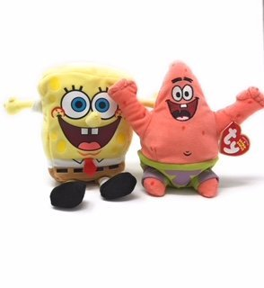 Ty Beanie Babies Spongebob Squarepants Set of 2, Spongebob Squarepants and Patrick Star by Ty